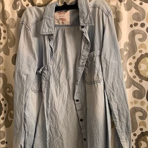 Mossimo Chambray Button Top size M